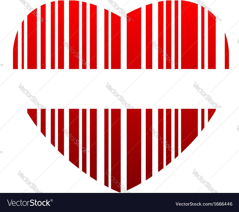 Valentine bar code vector | Price: 1 Credit (USD $1)