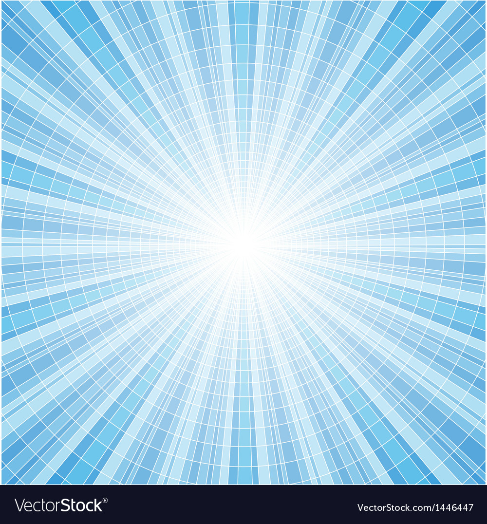 Abstract blue radial rays vector | Price: 1 Credit (USD $1)