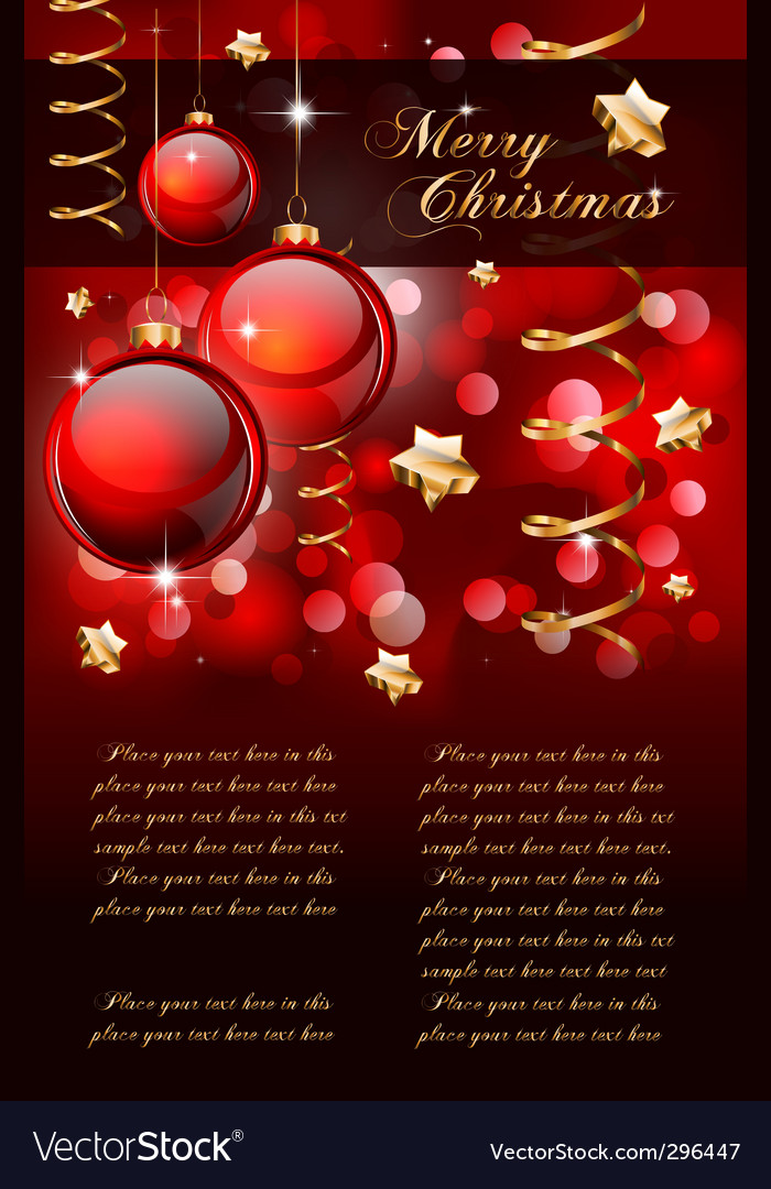 Christmas elegant background vector | Price: 1 Credit (USD $1)