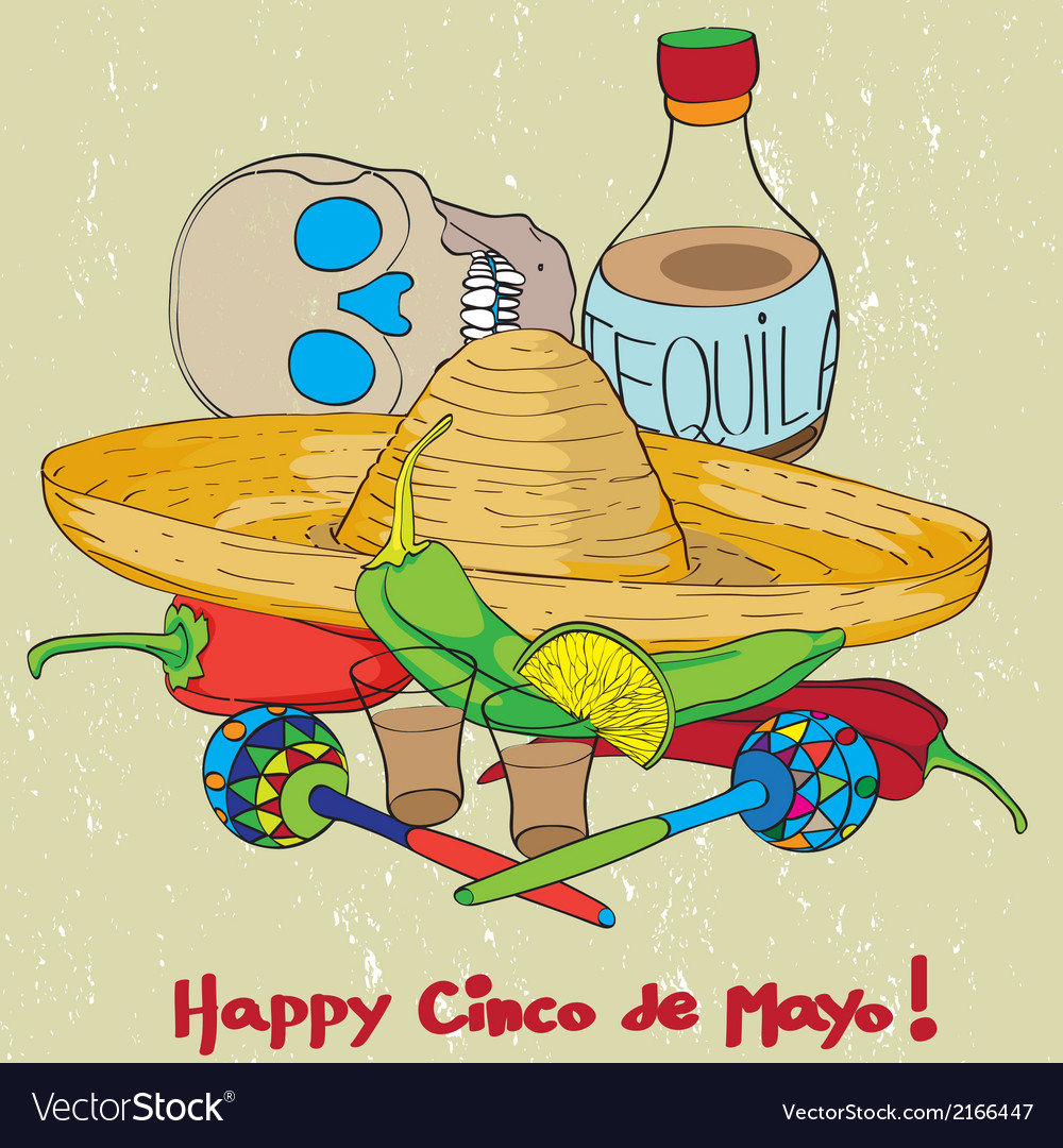 Cinco de mayo composition vector | Price: 1 Credit (USD $1)