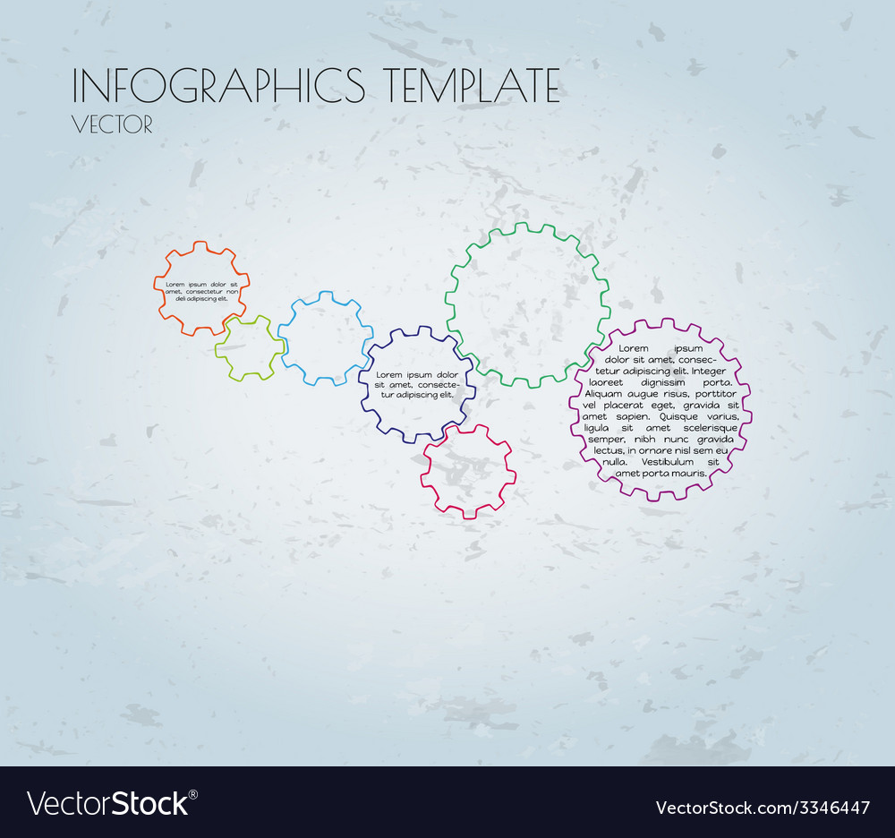 Cogwheels and sample text infographics vector | Price: 1 Credit (USD $1)