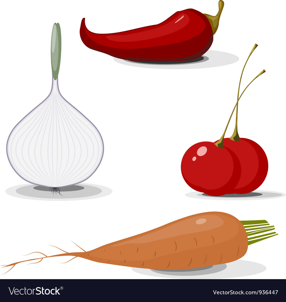 Collection of vegetables eps10 vector | Price: 1 Credit (USD $1)