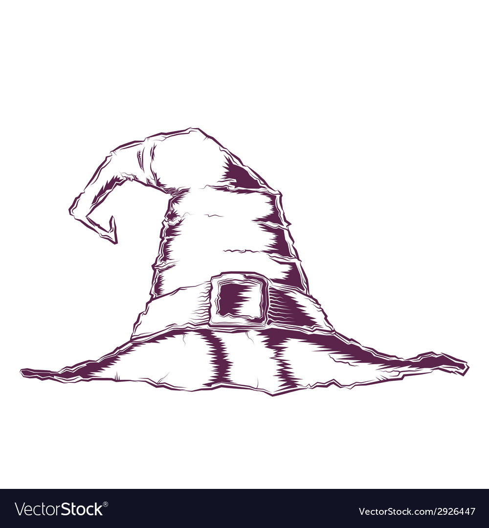 Creepy witch hat vector | Price: 1 Credit (USD $1)