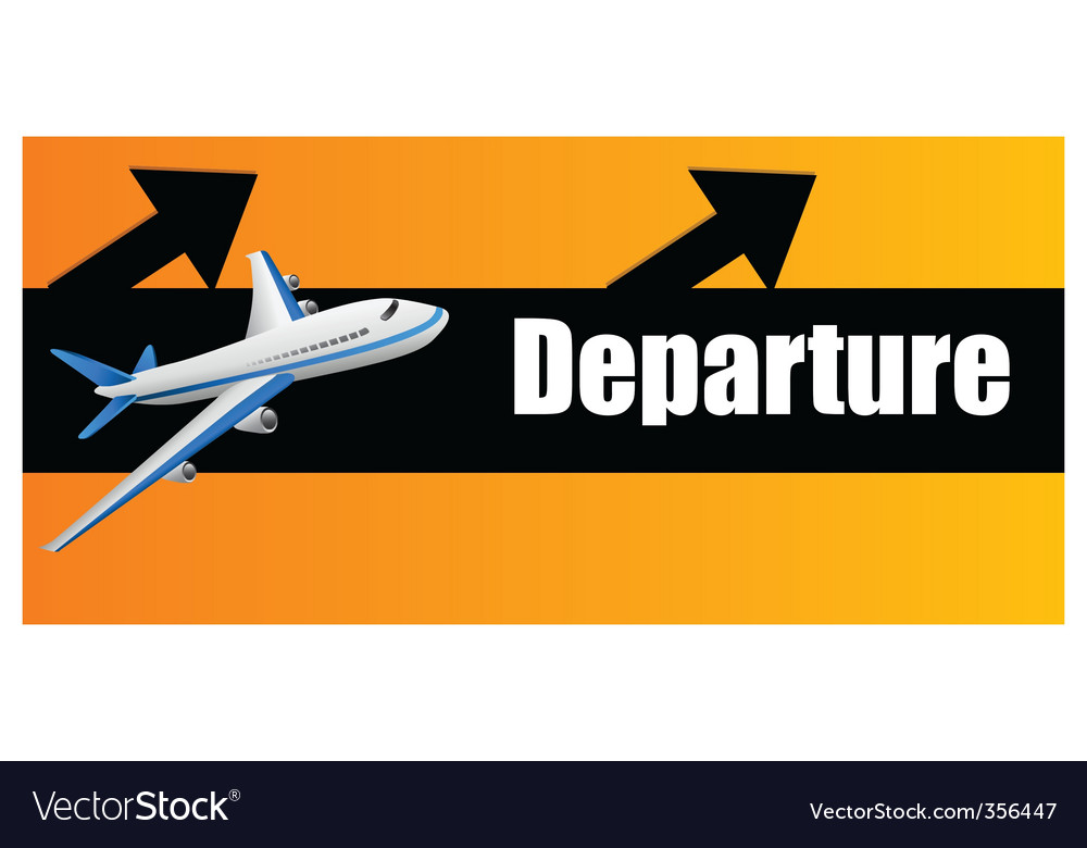 Departure plane vector | Price: 1 Credit (USD $1)