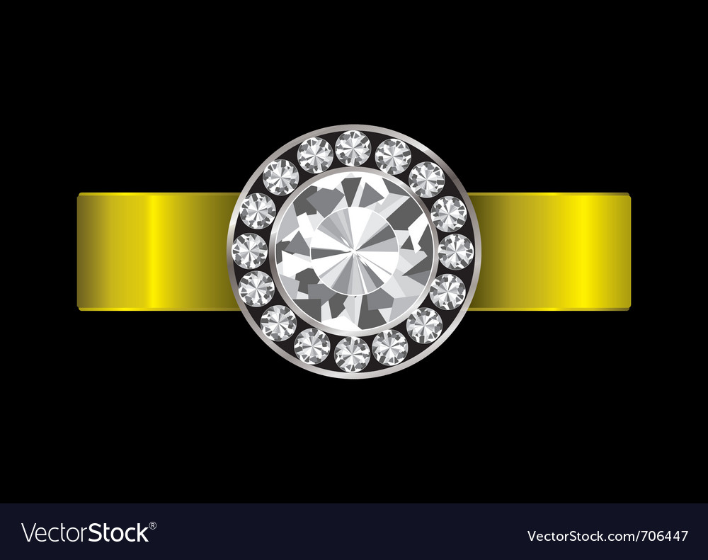 Gold ring inset vector | Price: 1 Credit (USD $1)
