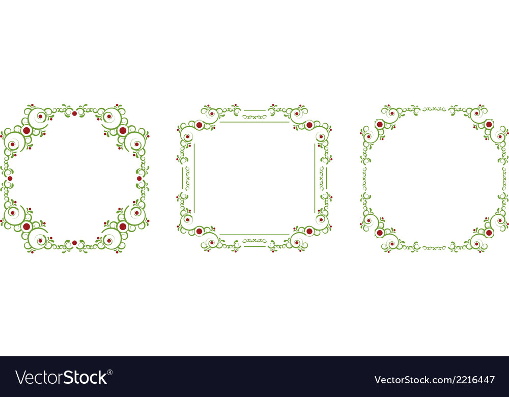 Green frame vector | Price: 1 Credit (USD $1)