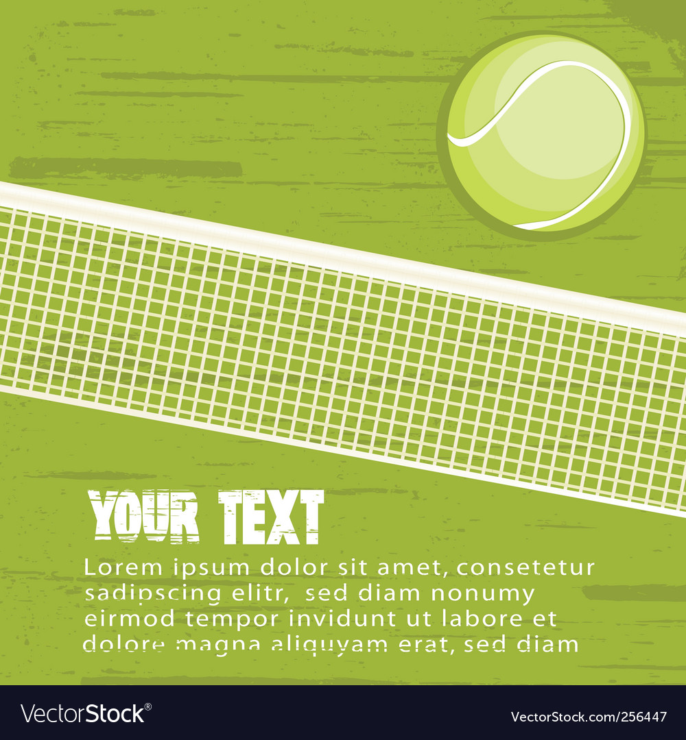 Grunge tennis background vector | Price: 1 Credit (USD $1)