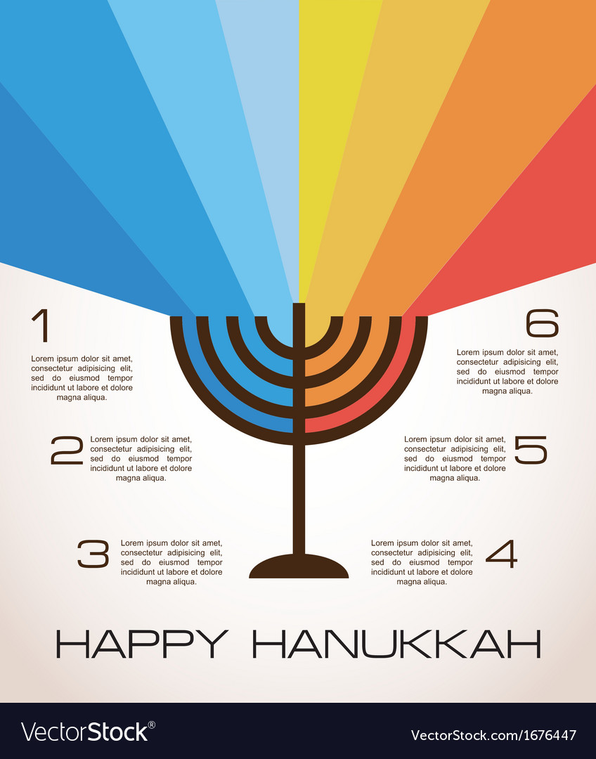Hanukkah infographics vector | Price: 1 Credit (USD $1)