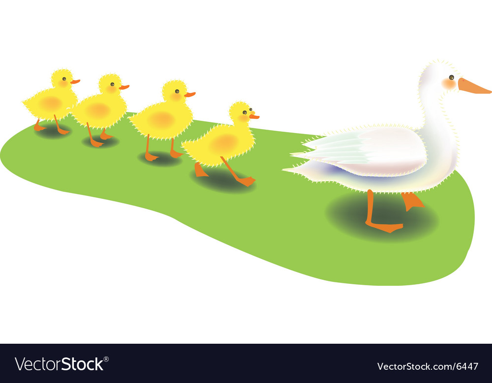Mother duck vector | Price: 1 Credit (USD $1)