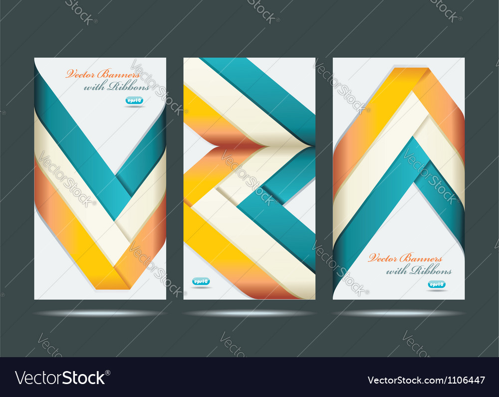 Show colorful ribbon promotional products design vector | Price: 1 Credit (USD $1)