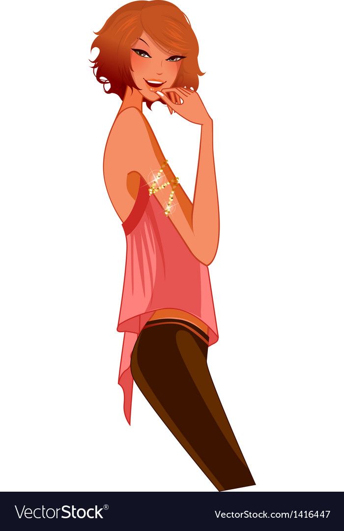 Side view of woman vector | Price: 3 Credit (USD $3)