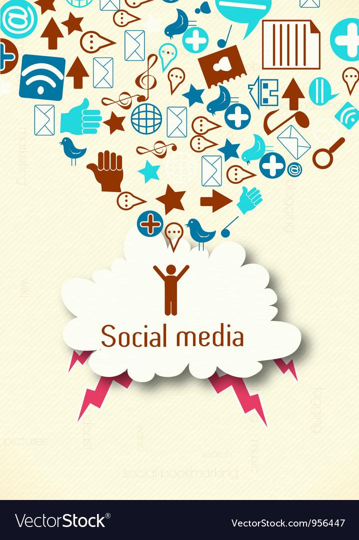 Social media concept vector   Price: 1 Credit (USD $1)