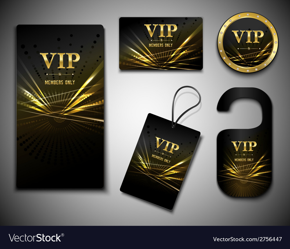 Vip cards set vector | Price: 1 Credit (USD $1)