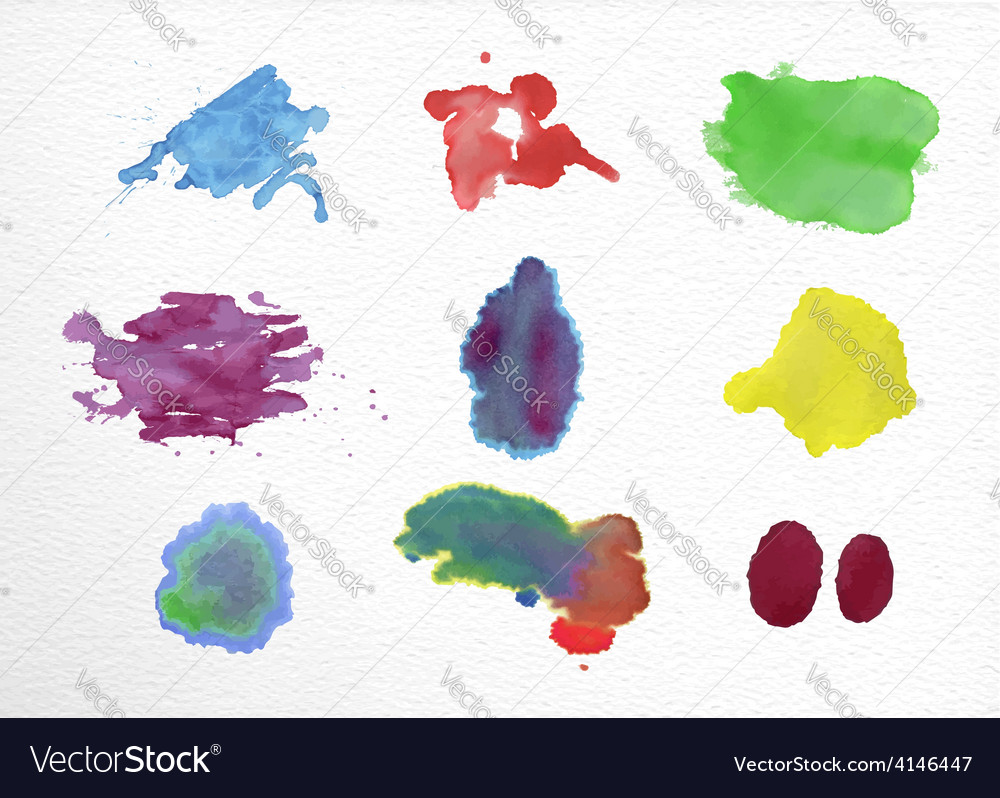 Watercolor stains set vector | Price: 1 Credit (USD $1)