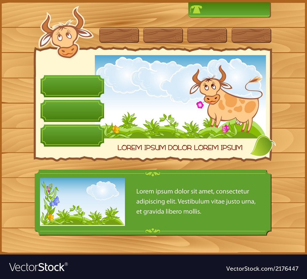 Wooden ecological template vector | Price: 1 Credit (USD $1)