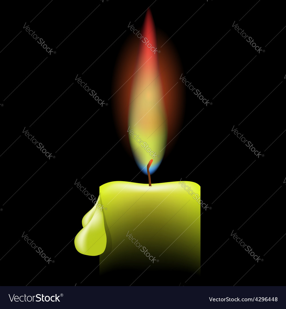 Burning single candle vector | Price: 1 Credit (USD $1)