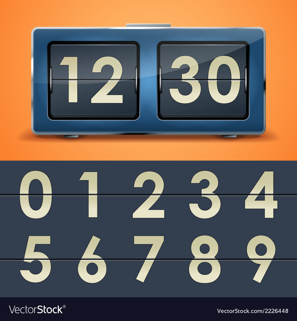 Clock 11 1 flipclock vs vector | Price: 1 Credit (USD $1)