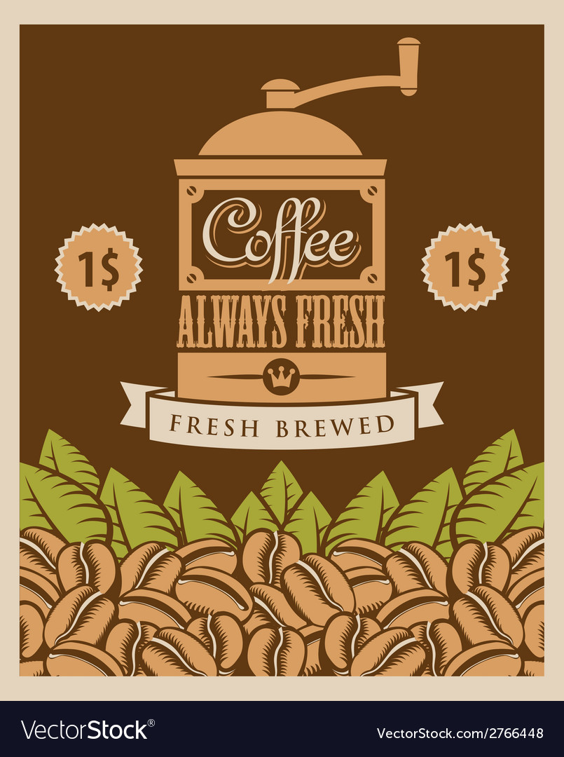Coffee retro vector | Price: 1 Credit (USD $1)