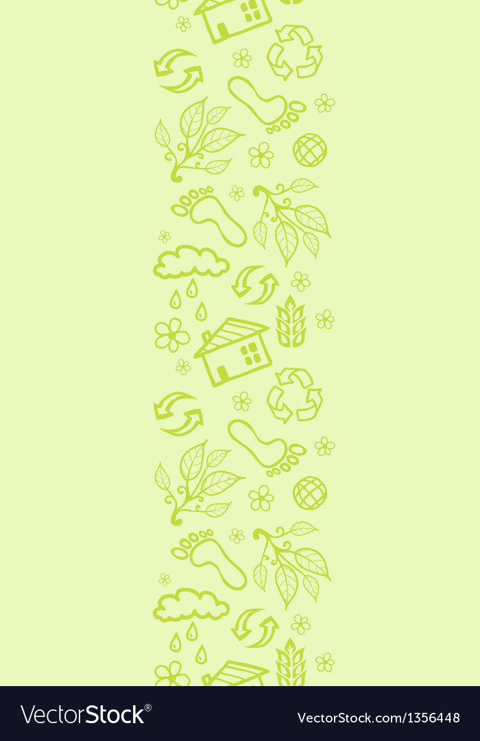 Ecological vertical seamless pattern background vector | Price: 1 Credit (USD $1)