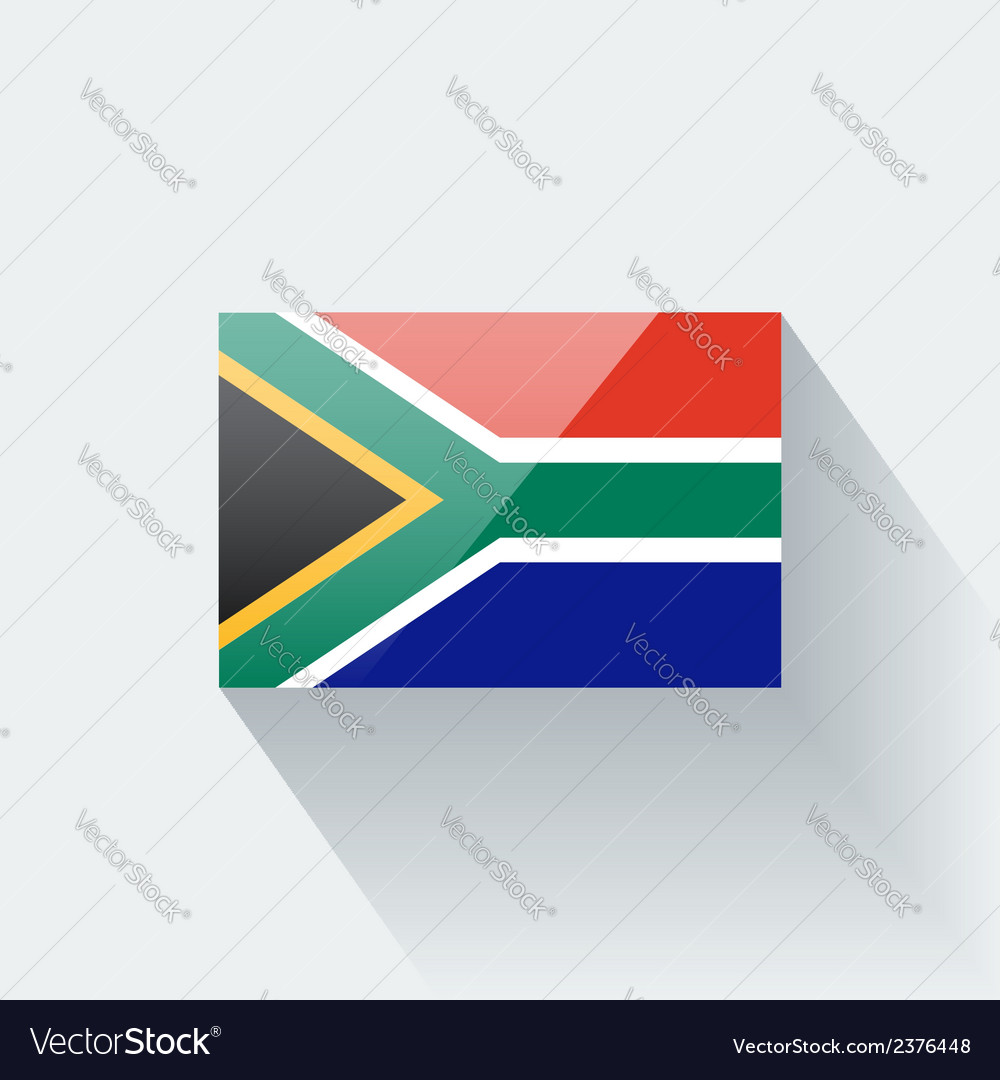 Flag of south africa vector | Price: 1 Credit (USD $1)