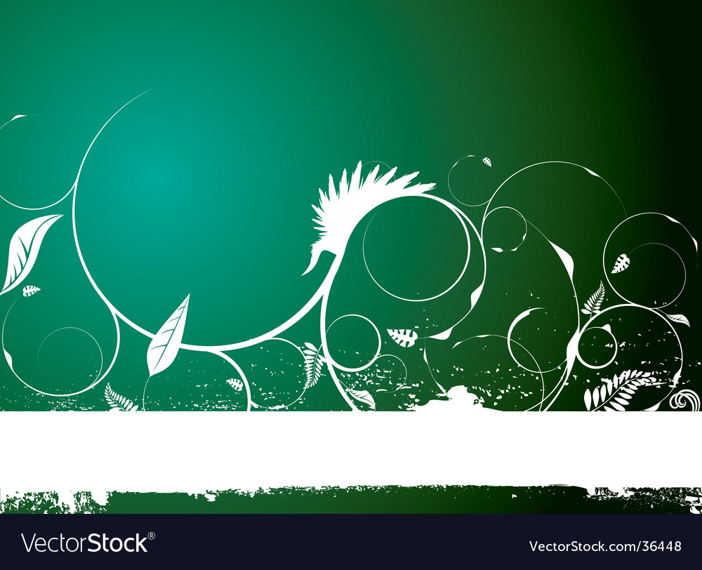 Floral banner natural vector | Price: 1 Credit (USD $1)