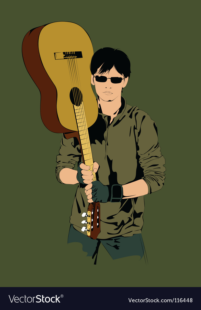 Guitar player vector | Price: 1 Credit (USD $1)