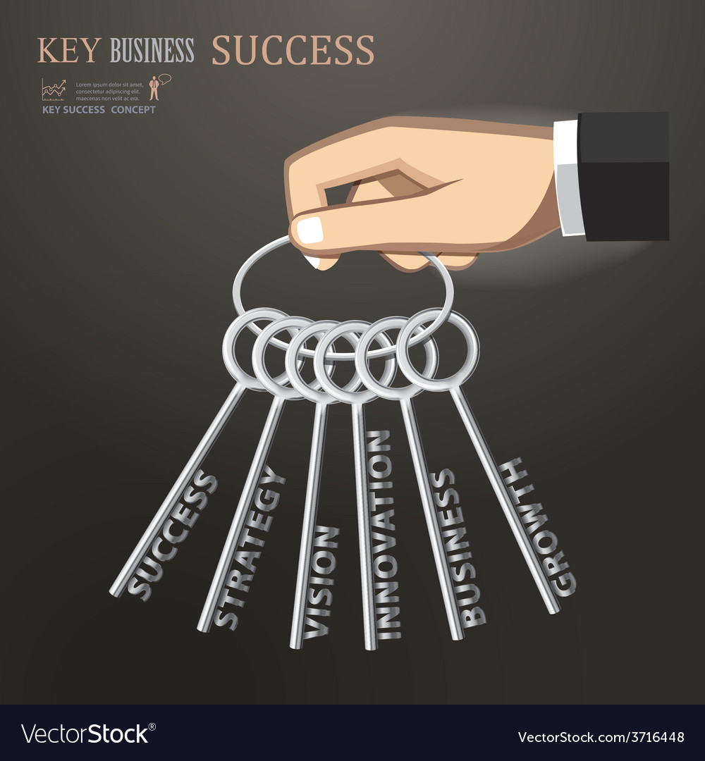 Hand holding bunch of keys for success business vector | Price: 1 Credit (USD $1)