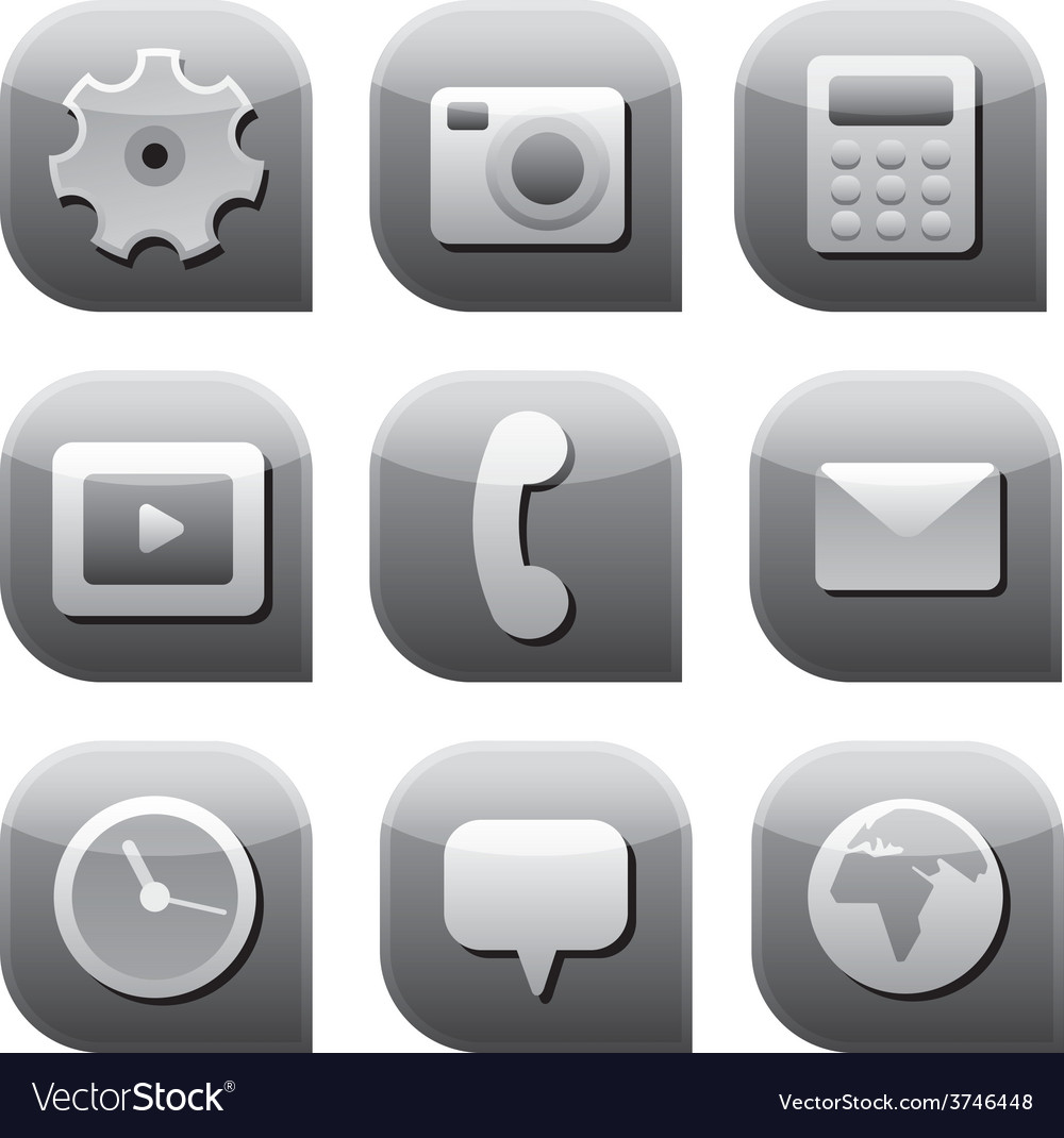 Interface icon set vector | Price: 1 Credit (USD $1)