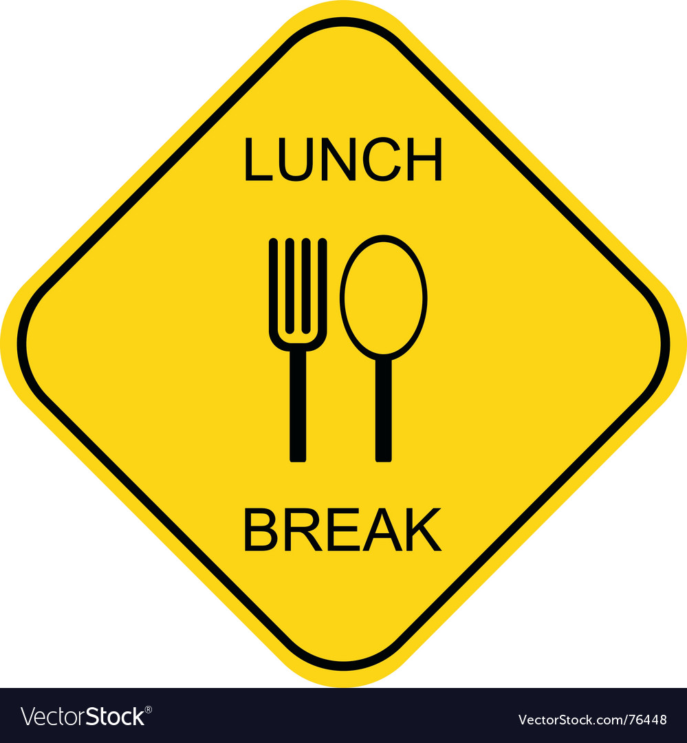 Lunch break vector | Price: 1 Credit (USD $1)