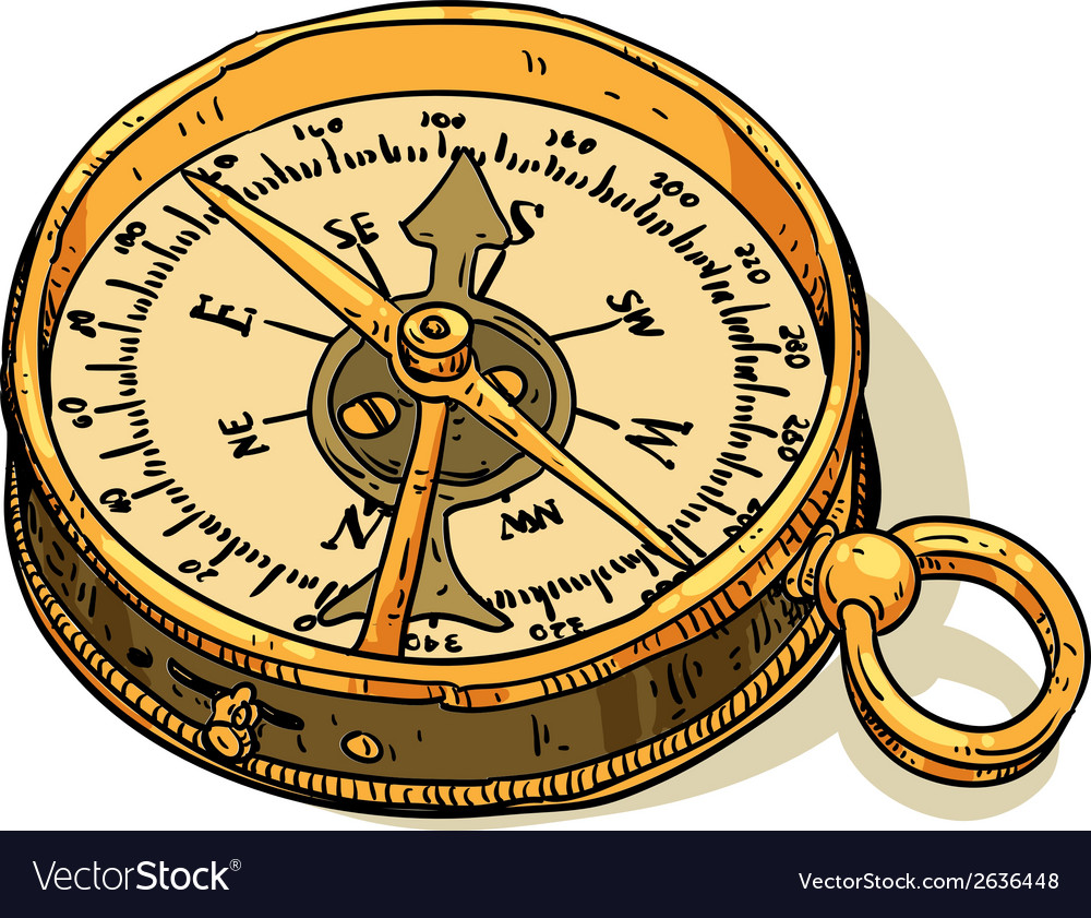 Marine theme compass vector | Price: 1 Credit (USD $1)