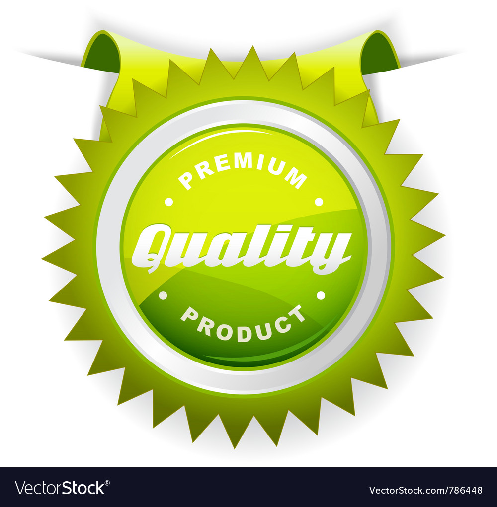 Quality sign vector