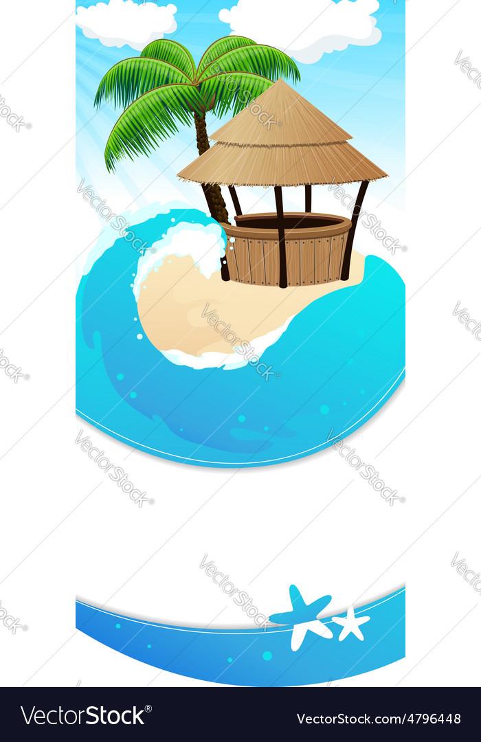 Resort background vector | Price: 3 Credit (USD $3)