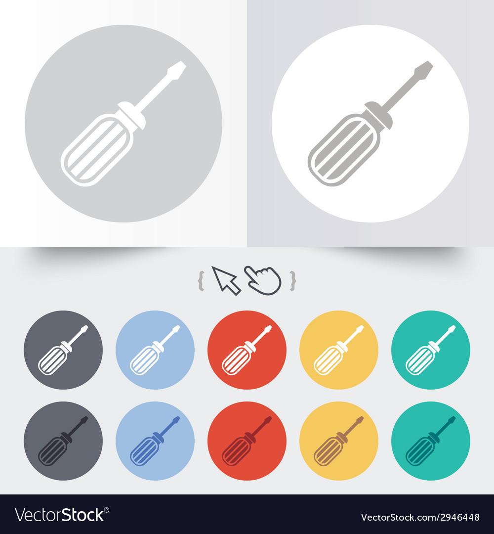Screwdriver tool sign icon fix it symbol vector | Price: 1 Credit (USD $1)