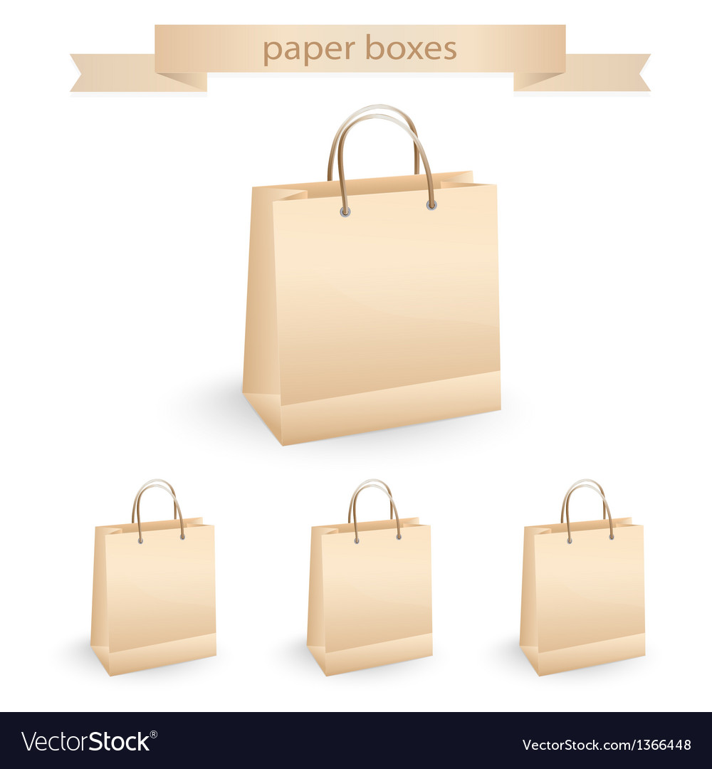 Shopping paper bags vector | Price: 1 Credit (USD $1)