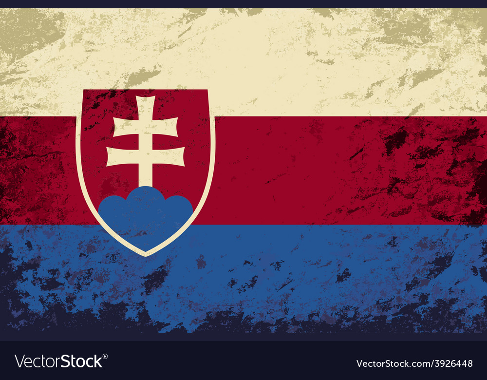 Slovakia flag grunge background vector | Price: 1 Credit (USD $1)