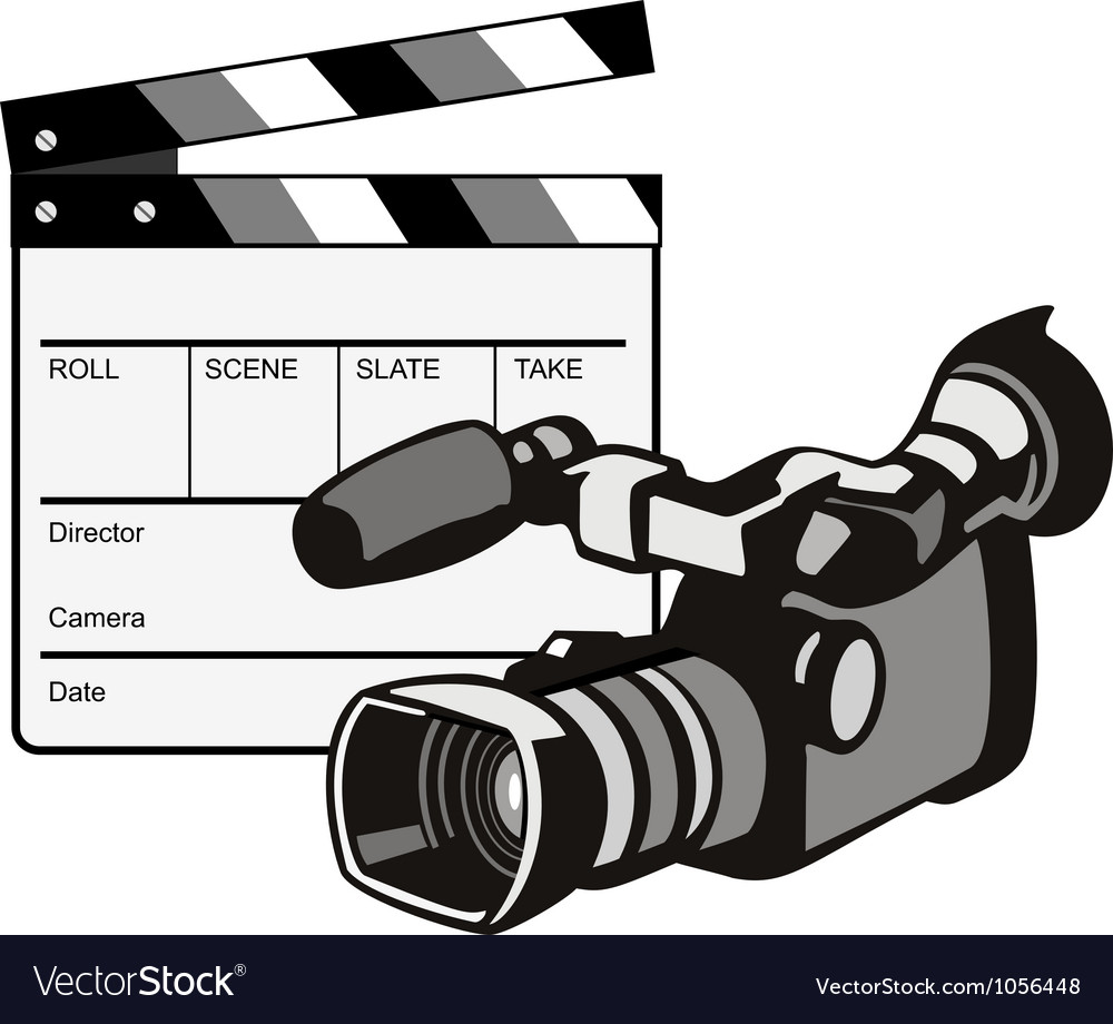 Video camera movie clapboard retro vector | Price: 1 Credit (USD $1)