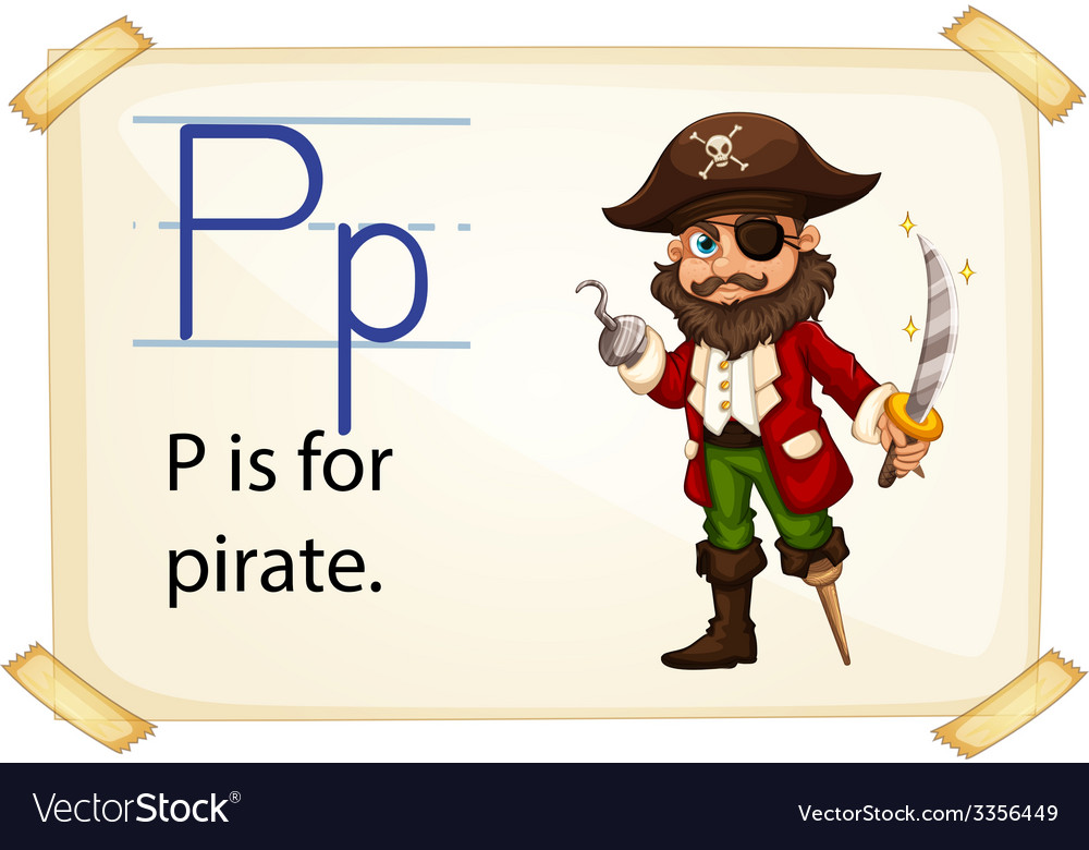 A letter p for pirate vector | Price: 3 Credit (USD $3)