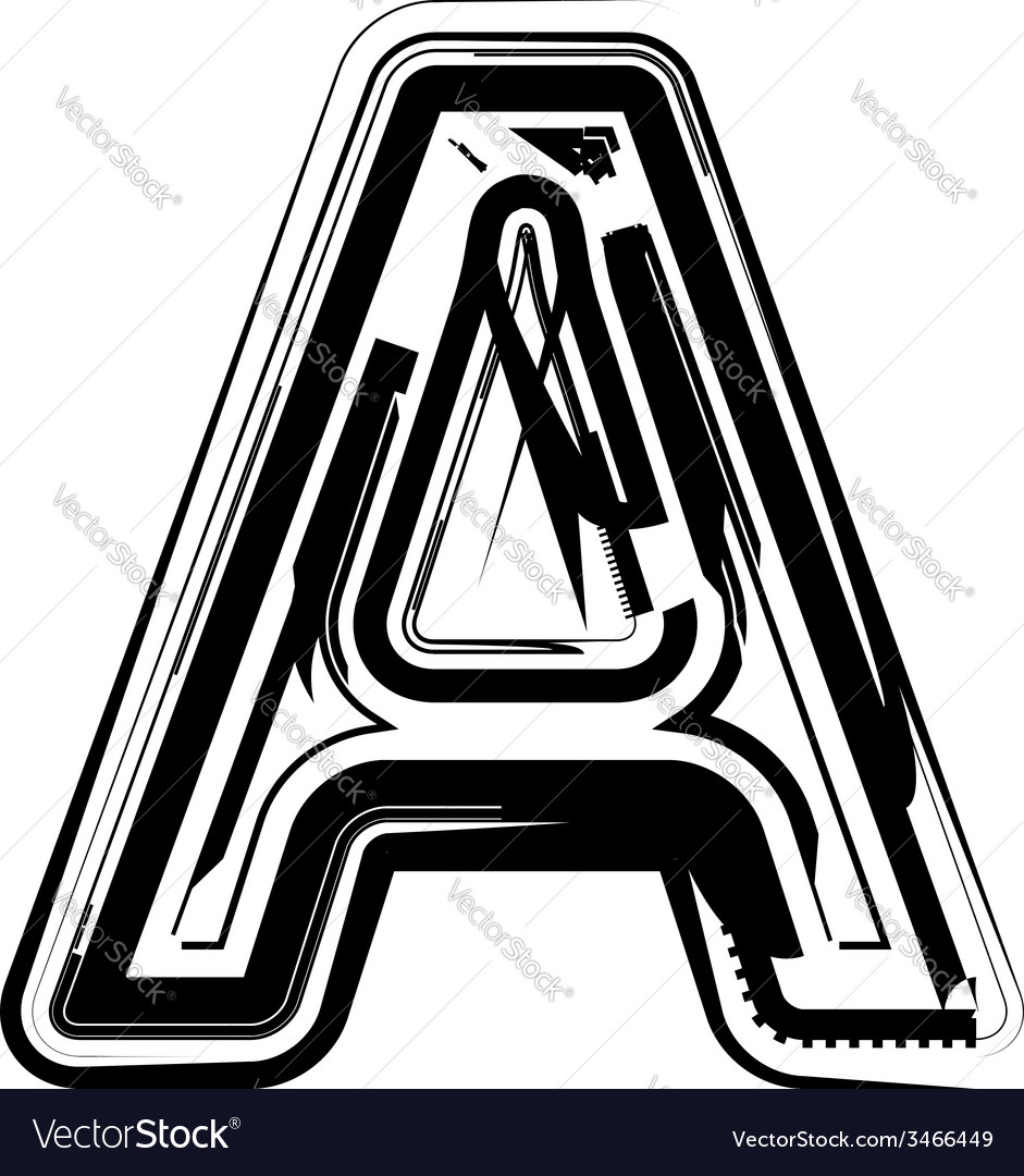 Abstract letter a vector   Price: 1 Credit (USD $1)