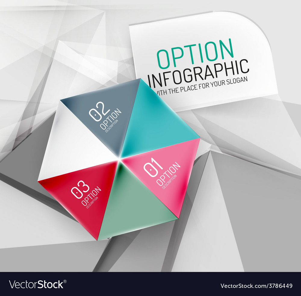 Business geometric option steps infographics vector | Price: 1 Credit (USD $1)