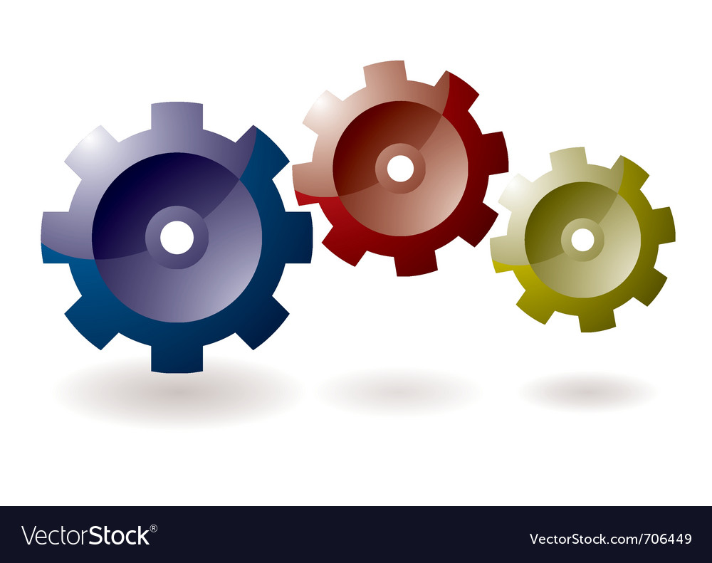 Cog icon symbol vector | Price: 1 Credit (USD $1)