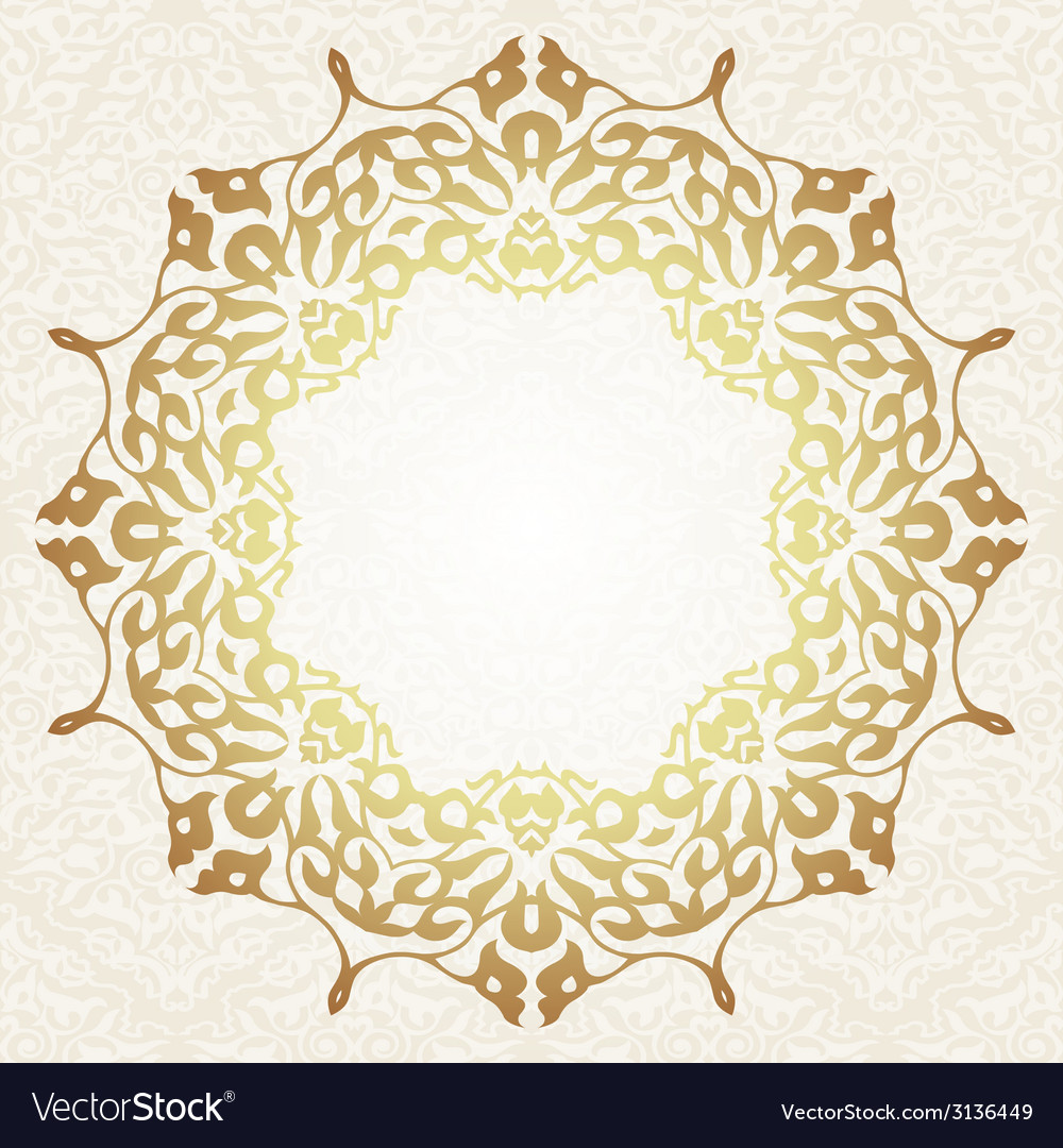 Floral frame background in arabic motif vector | Price: 1 Credit (USD $1)