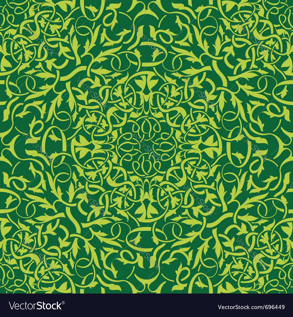 Green seamless wallpaper vector | Price: 1 Credit (USD $1)