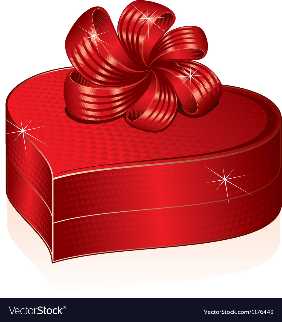 Heart shaped gift box picture vector | Price: 1 Credit (USD $1)