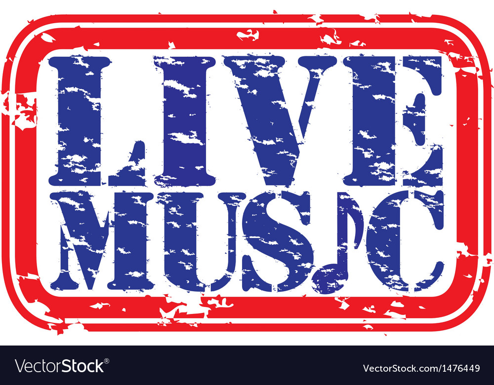 Live music stamp vector | Price: 1 Credit (USD $1)