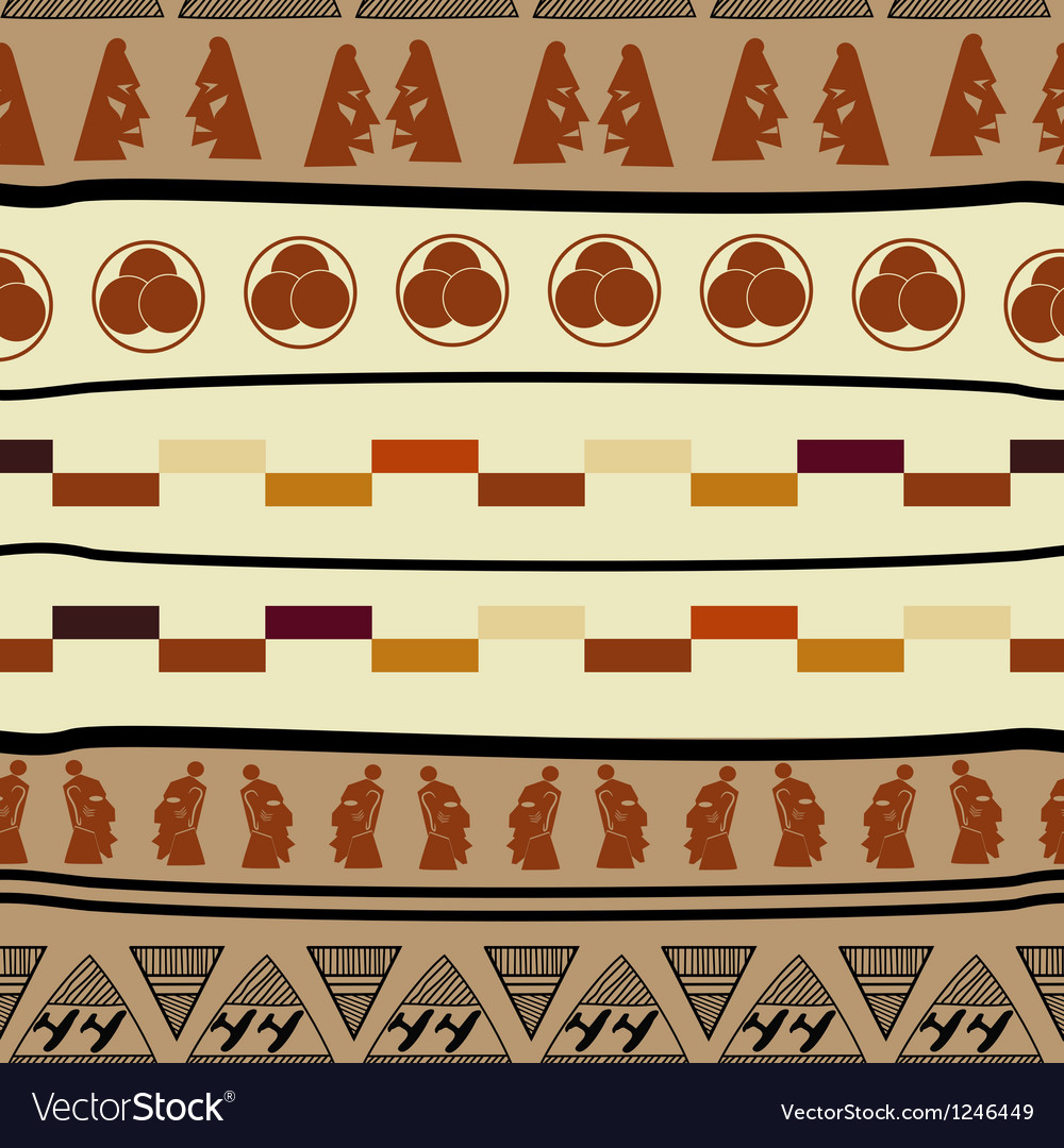 Seamless pattern with african elements vector | Price: 1 Credit (USD $1)