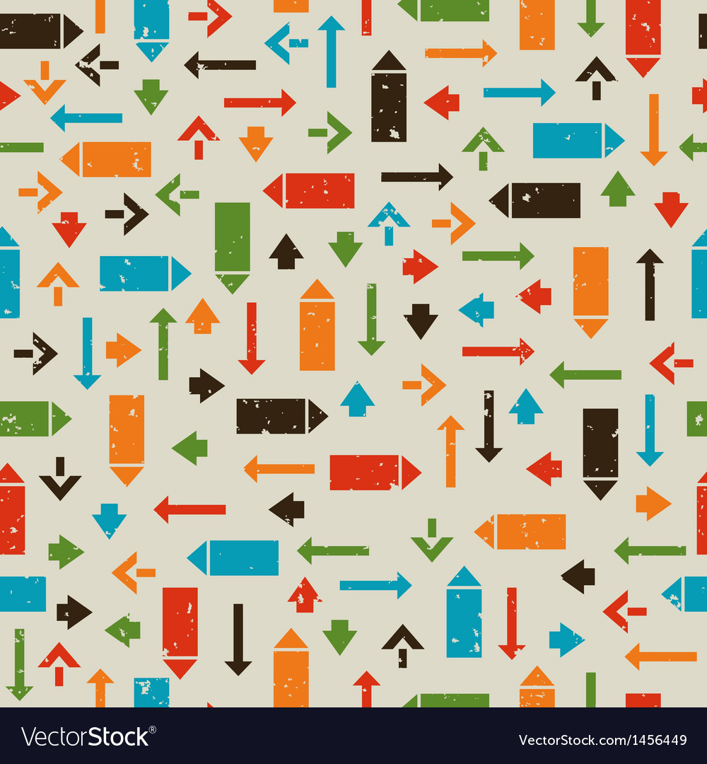 Seamless retro pattern with pointers arrows vector   Price: 1 Credit (USD $1)