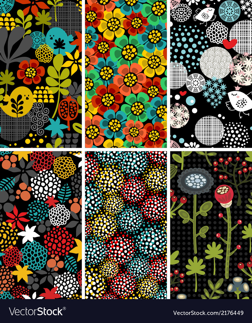 Set of vertical cards with birds and flora vector | Price: 1 Credit (USD $1)