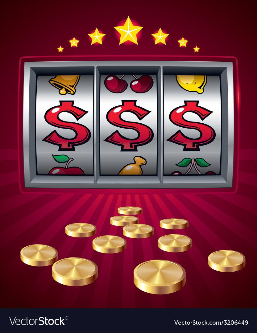 Slot machine vector | Price: 1 Credit (USD $1)
