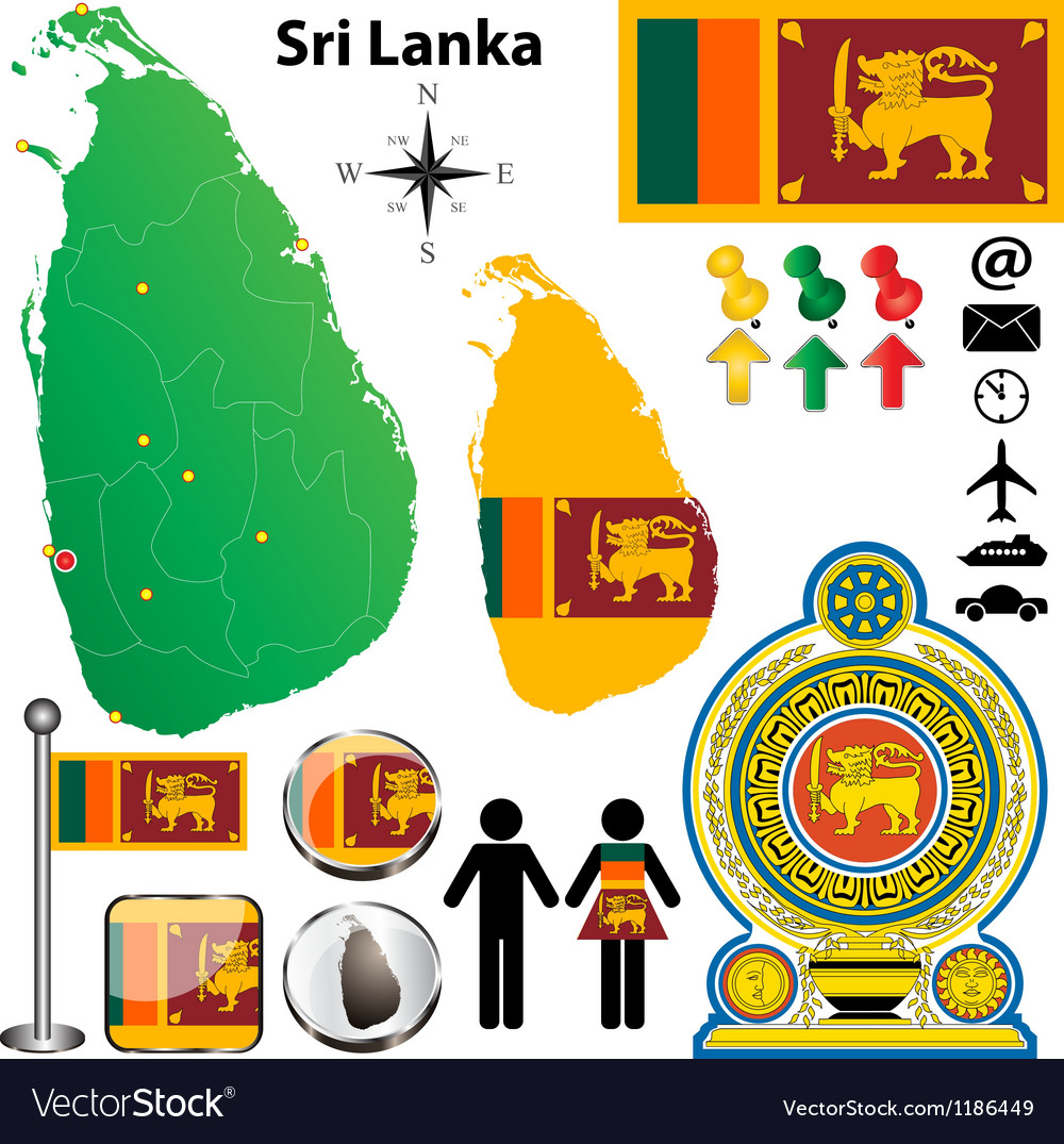 Sri lanka map vector