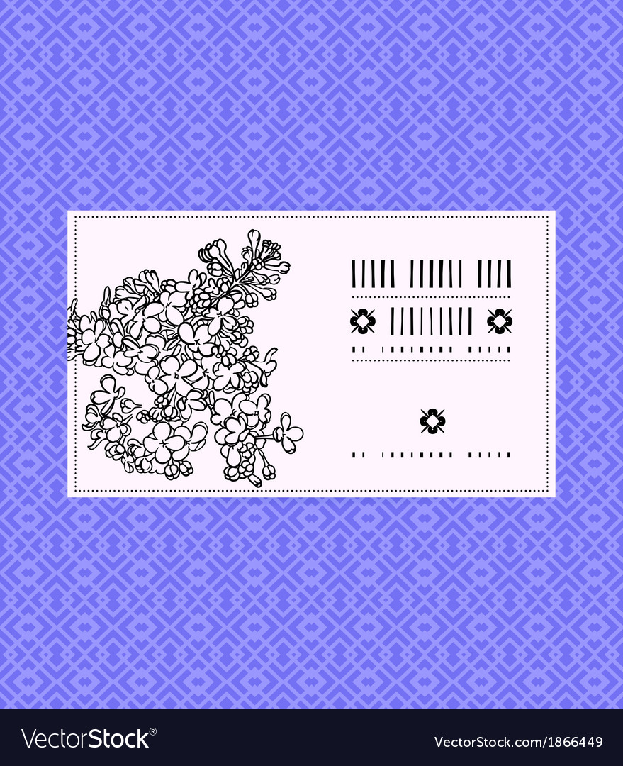 Vintage card with lilac flower vector | Price: 1 Credit (USD $1)